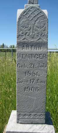 WENINGER, ANTON - McHenry County, North Dakota | ANTON WENINGER - North Dakota Gravestone Photos