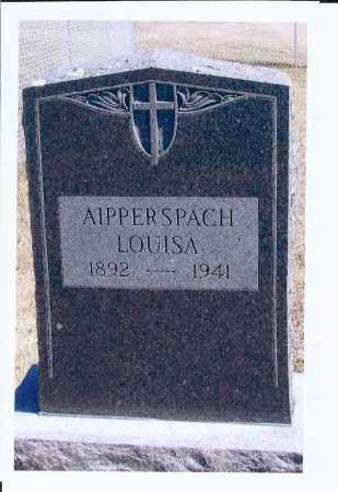 AIPPERSPACH, LOUISA - McIntosh County, North Dakota | LOUISA AIPPERSPACH - North Dakota Gravestone Photos