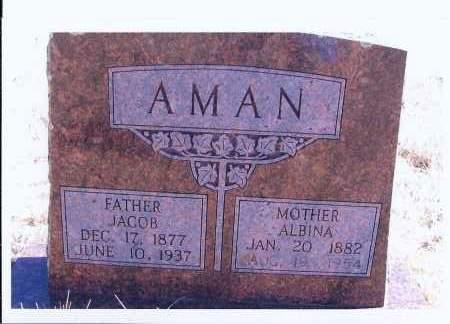 AMAN, ALBINA - McIntosh County, North Dakota | ALBINA AMAN - North Dakota Gravestone Photos