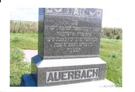 AUERBACK, ISRAEL - McIntosh County, North Dakota | ISRAEL AUERBACK - North Dakota Gravestone Photos