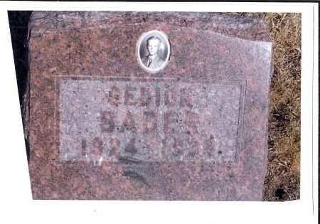 BADER, GEDION - McIntosh County, North Dakota | GEDION BADER - North Dakota Gravestone Photos