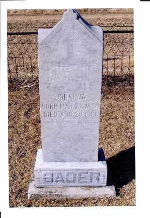 HEINBUCK BADER, JOHANNA - McIntosh County, North Dakota | JOHANNA HEINBUCK BADER - North Dakota Gravestone Photos