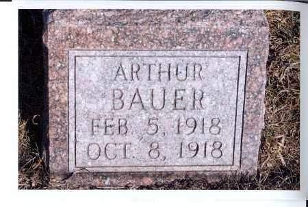 BAUER, ARTHUR - McIntosh County, North Dakota   ARTHUR BAUER - North Dakota Gravestone Photos