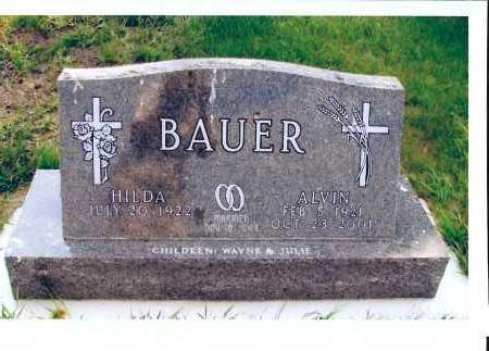 BAUER, ALVIN - McIntosh County, North Dakota | ALVIN BAUER - North Dakota Gravestone Photos