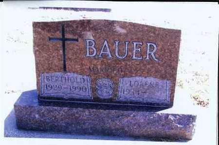 BAUER, BERTHOLD - McIntosh County, North Dakota   BERTHOLD BAUER - North Dakota Gravestone Photos