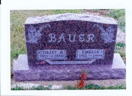 BAUER, CHRIST B. - McIntosh County, North Dakota   CHRIST B. BAUER - North Dakota Gravestone Photos