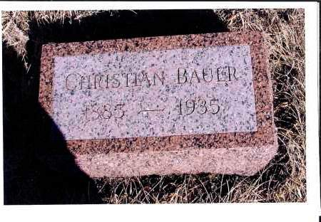 BAUER, CHRISTIAN - McIntosh County, North Dakota | CHRISTIAN BAUER - North Dakota Gravestone Photos