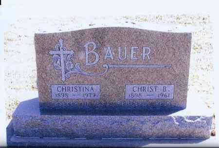 BAUER, CHRISTINA - McIntosh County, North Dakota | CHRISTINA BAUER - North Dakota Gravestone Photos