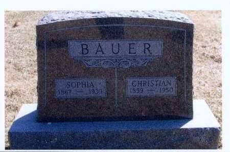 BAUER, CHRISTIAN - McIntosh County, North Dakota | CHRISTIAN BAUER - North Dakota Gravestone Photos