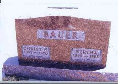 BAUER, CHRIST H. - McIntosh County, North Dakota | CHRIST H. BAUER - North Dakota Gravestone Photos