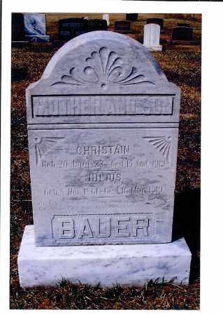 BAUER, JULIUS - McIntosh County, North Dakota | JULIUS BAUER - North Dakota Gravestone Photos