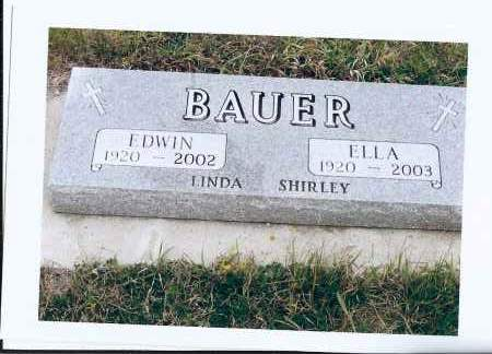 BAUER, ELLA - McIntosh County, North Dakota | ELLA BAUER - North Dakota Gravestone Photos