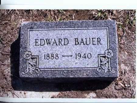 BAUER, EDWARD - McIntosh County, North Dakota | EDWARD BAUER - North Dakota Gravestone Photos