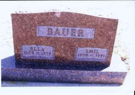 BAUER, EMIL - McIntosh County, North Dakota | EMIL BAUER - North Dakota Gravestone Photos