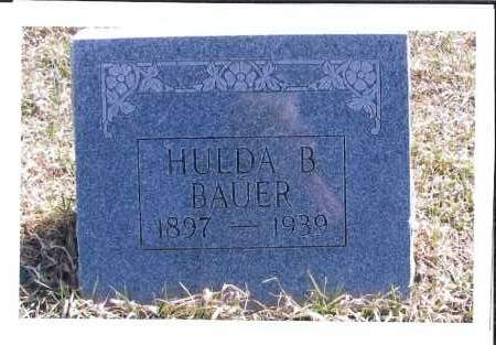 BAUER, HULDA B. - McIntosh County, North Dakota | HULDA B. BAUER - North Dakota Gravestone Photos