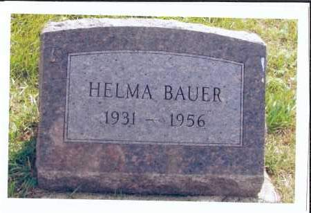 BAUER, HELMA - McIntosh County, North Dakota | HELMA BAUER - North Dakota Gravestone Photos