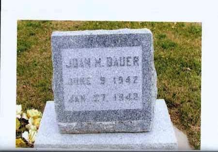 BAUER, JOAN M. - McIntosh County, North Dakota   JOAN M. BAUER - North Dakota Gravestone Photos