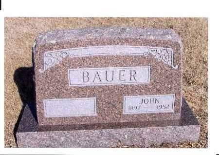 BAUER, JOHN - McIntosh County, North Dakota | JOHN BAUER - North Dakota Gravestone Photos