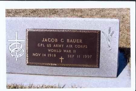 BAUER, JACOB C. - McIntosh County, North Dakota | JACOB C. BAUER - North Dakota Gravestone Photos