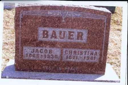 BAUER, CHRISTINA - McIntosh County, North Dakota | CHRISTINA BAUER - North Dakota Gravestone Photos