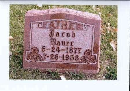 BAUER, JACOB - McIntosh County, North Dakota | JACOB BAUER - North Dakota Gravestone Photos