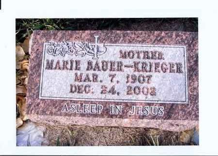 BAUER, MARIE - McIntosh County, North Dakota | MARIE BAUER - North Dakota Gravestone Photos