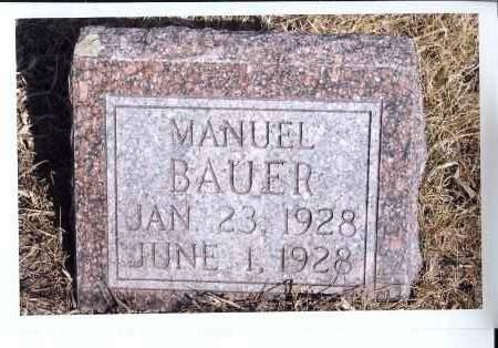 BAUER, MANUEL - McIntosh County, North Dakota | MANUEL BAUER - North Dakota Gravestone Photos