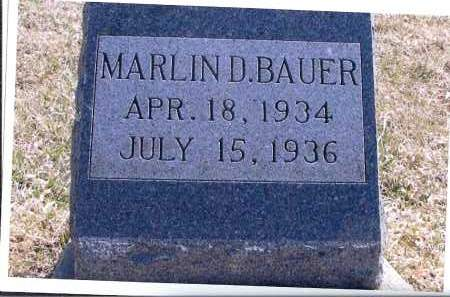 BAUER, MARLIN D. - McIntosh County, North Dakota | MARLIN D. BAUER - North Dakota Gravestone Photos