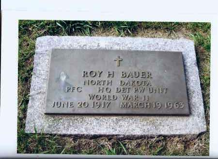 BAUER, ROY H. - McIntosh County, North Dakota | ROY H. BAUER - North Dakota Gravestone Photos