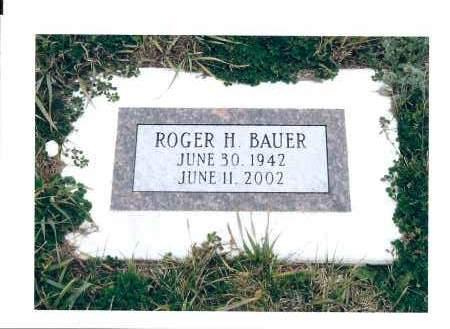 BAUER, ROGER H. - McIntosh County, North Dakota   ROGER H. BAUER - North Dakota Gravestone Photos