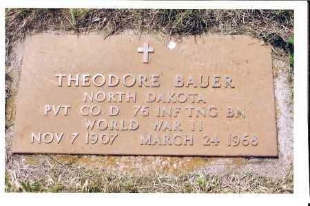 BAUER, THEODORE - McIntosh County, North Dakota | THEODORE BAUER - North Dakota Gravestone Photos