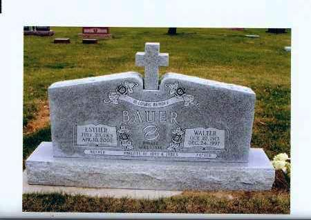 BAUER, ESTHER - McIntosh County, North Dakota | ESTHER BAUER - North Dakota Gravestone Photos