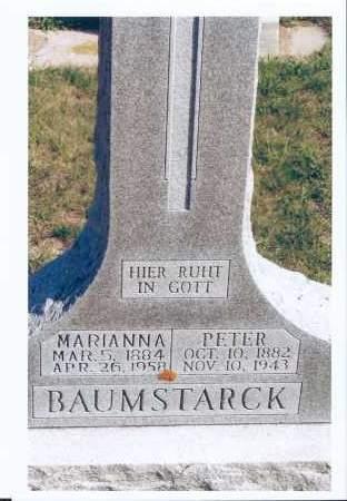 BAUMSTARCK, MARIANNA - McIntosh County, North Dakota | MARIANNA BAUMSTARCK - North Dakota Gravestone Photos