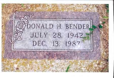 BENDER, DONALD H. - McIntosh County, North Dakota   DONALD H. BENDER - North Dakota Gravestone Photos