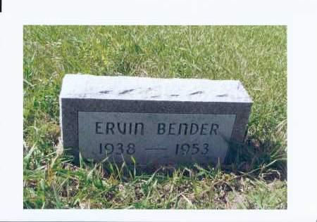 BENDER, ERVIN GOTTLIEB - McIntosh County, North Dakota | ERVIN GOTTLIEB BENDER - North Dakota Gravestone Photos