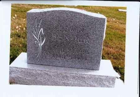 BENDER, EDWIN - McIntosh County, North Dakota | EDWIN BENDER - North Dakota Gravestone Photos