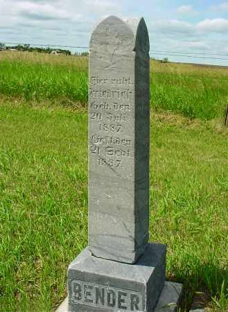 BENDER, FRIEDRICH - McIntosh County, North Dakota | FRIEDRICH BENDER - North Dakota Gravestone Photos