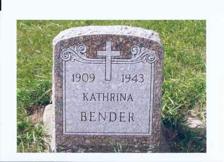 BENDER, KATHRINA - McIntosh County, North Dakota | KATHRINA BENDER - North Dakota Gravestone Photos