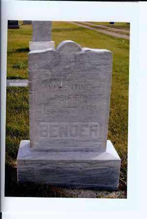 BENDER, VALENTINE - McIntosh County, North Dakota   VALENTINE BENDER - North Dakota Gravestone Photos