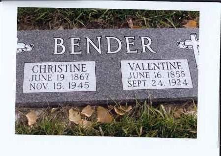BENDER, CHRISTINE - McIntosh County, North Dakota | CHRISTINE BENDER - North Dakota Gravestone Photos