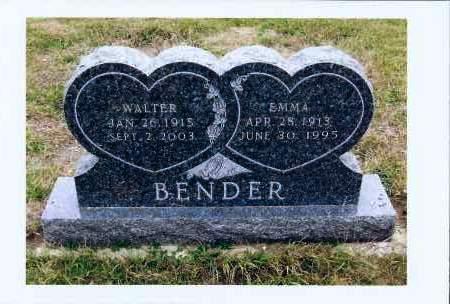BENDER, WALTER - McIntosh County, North Dakota | WALTER BENDER - North Dakota Gravestone Photos