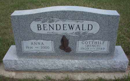 BENDEWALD, GOTTHLILF  (BENGY) - McIntosh County, North Dakota | GOTTHLILF  (BENGY) BENDEWALD - North Dakota Gravestone Photos