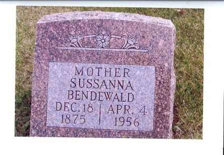 BENDEWALD, SUSSANNA - McIntosh County, North Dakota | SUSSANNA BENDEWALD - North Dakota Gravestone Photos