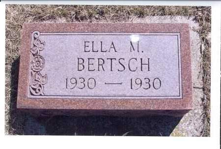BERTSCH, ELLA M. - McIntosh County, North Dakota | ELLA M. BERTSCH - North Dakota Gravestone Photos