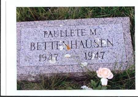BETTENHAUSEN, PAULLETE M. - McIntosh County, North Dakota | PAULLETE M. BETTENHAUSEN - North Dakota Gravestone Photos
