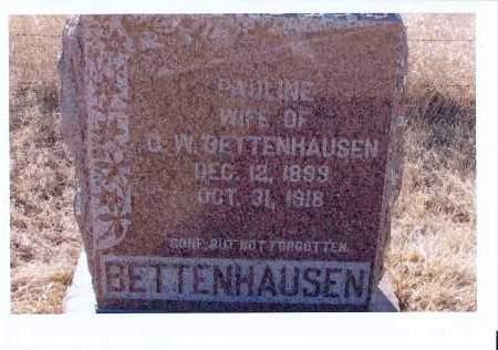 BETTENHAUSEN, PAULINE - McIntosh County, North Dakota | PAULINE BETTENHAUSEN - North Dakota Gravestone Photos