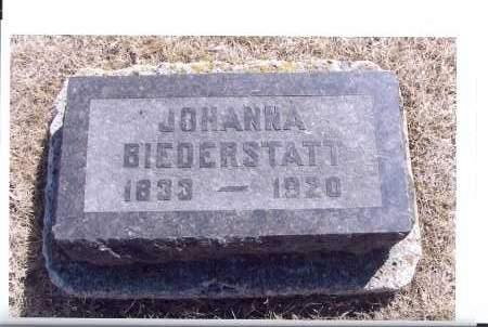 BIEDERSTATT, JOHANNA - McIntosh County, North Dakota | JOHANNA BIEDERSTATT - North Dakota Gravestone Photos