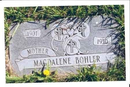 BOHLER, MAGDALENE - McIntosh County, North Dakota | MAGDALENE BOHLER - North Dakota Gravestone Photos
