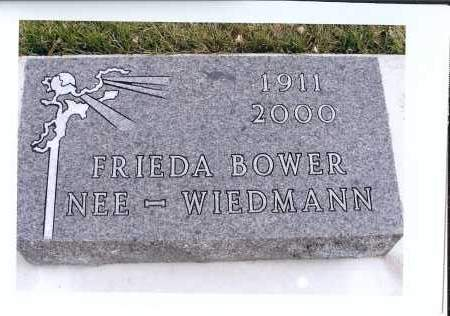 WIEDMANN BOWER, FRIEDA - McIntosh County, North Dakota | FRIEDA WIEDMANN BOWER - North Dakota Gravestone Photos