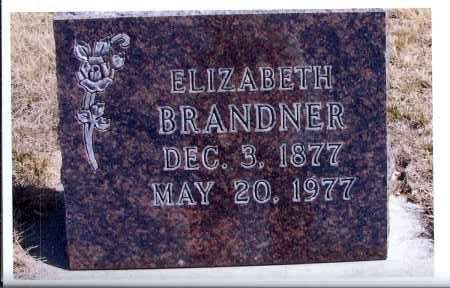 BRANDNER, ELIZABETH - McIntosh County, North Dakota | ELIZABETH BRANDNER - North Dakota Gravestone Photos